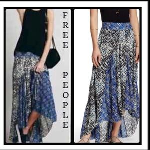 FREE PEOPLE IVORY COMB MAXI SKIRT SIZE S NWOT